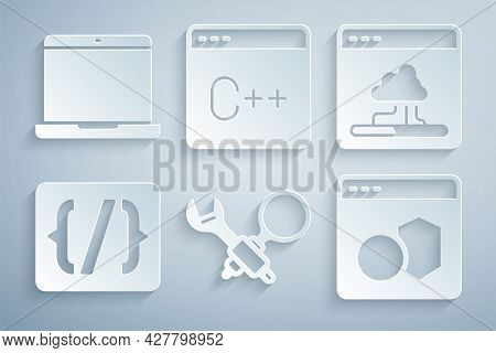 Set Debugging, Cloud Technology Data Transfer, Programming Language Syntax, Software, And Laptop Ico