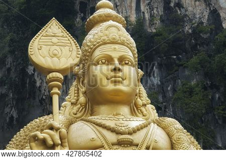 The Landmark Lord Murugan Statue, Hindu Deity, Within The Batu Caves Scenic Area Gombak, Selangor Ma