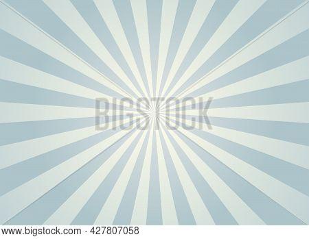 Sunlight Abstract Background. Grey Color Burst Background. Vector Illustration. Sun Beam Ray Sunburs