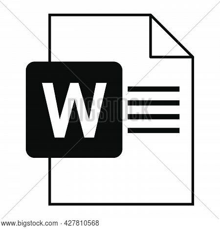 Modern Flat Design Of Logo Doc File Icon. Document Type