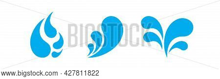 Water Drop Blue, Aqua Droplet, Water Drop Symbol, Water Liquid Splash