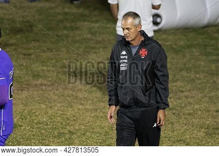 Rio, Brazil - July 24, 2021: Lista Coach In Match Between Vasco 4 Vs 1 Guarani By 14th Round Of Braz