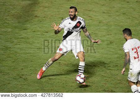 Rio, Brazil - July 24, 2021: Leandro Castan Player In Match Between Vasco 4 Vs 1 Guarani By 14th Rou