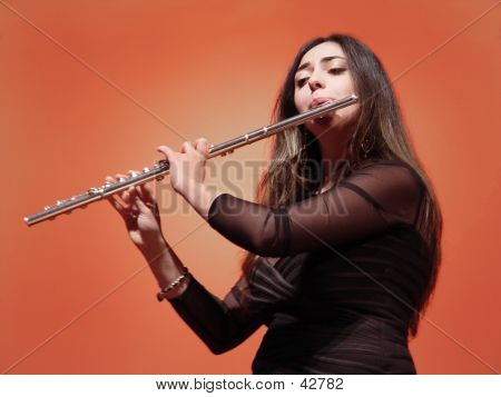 Beautiful Flutist