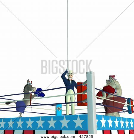 political party sporting event boxing poster