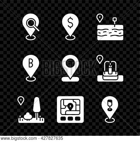 Set Search Location, Cash, Broken Road, City Map Navigation, Gps Device With, Alcohol Or Beer Bar, L