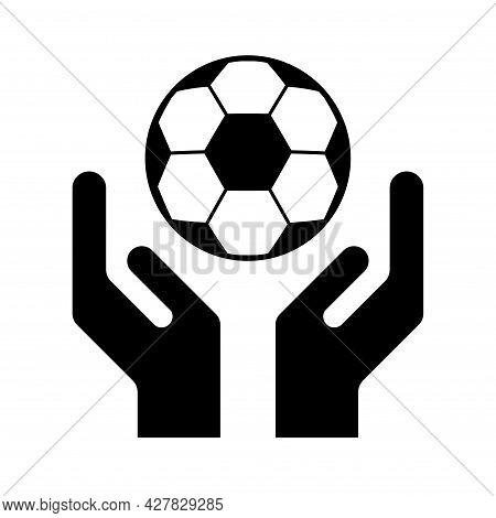 Soccer, Football Ball Symbol, Single Goal Isolated Design Vector Illustration, Web Game Object .