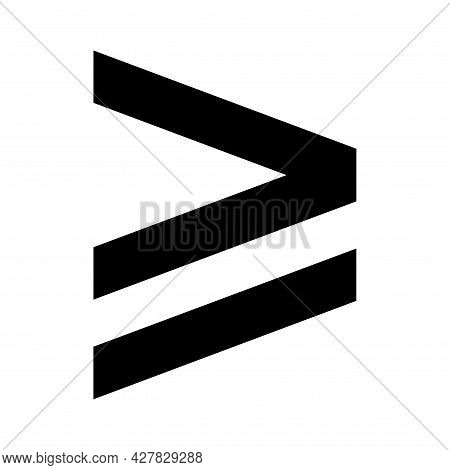 Greater Than Or Equal To Mathematics Symbol, Education Maths Icon, Web Element Vector Illustration D