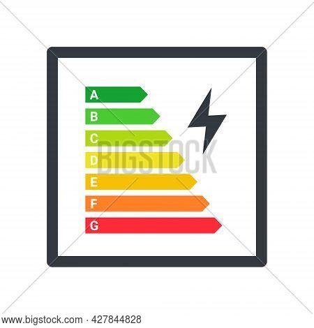Energy Efficiency Logo. Energy Efficiency Rating Classification Graph. Vector Illustration