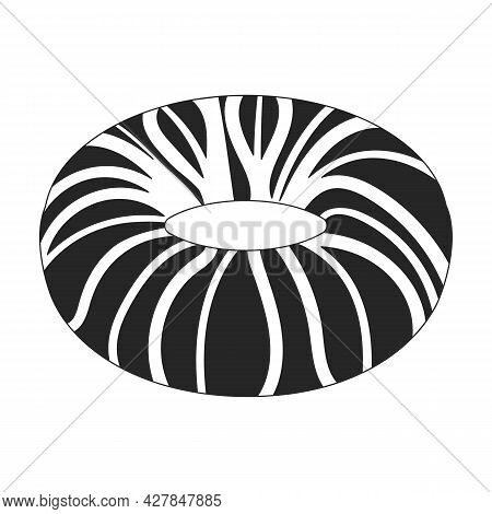 Water Mattress Vector Icon.black Vector Icon Isolated On White Background Water Mattress.