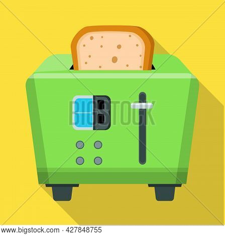 Isolated Object Of Toaster And Toast Sign. Graphic Of Toaster And Menu Stock Vector Illustration.