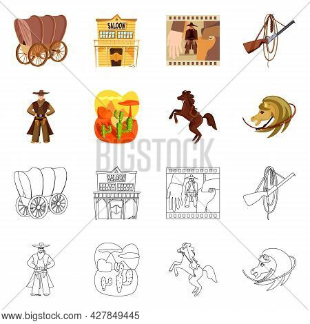 Vector Design Of Texas And History Icon. Collection Of Texas And Culture Vector Icon For Stock.