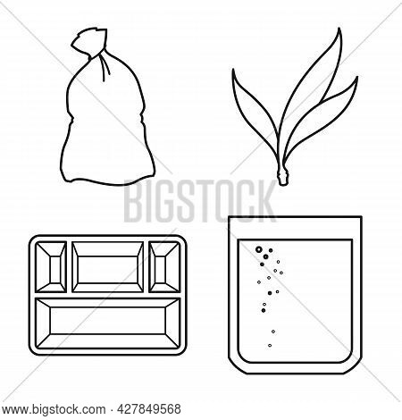 Vector Illustration Of Industry And Sugarcane Icon. Set Of Industry And Natural Stock Symbol For Web