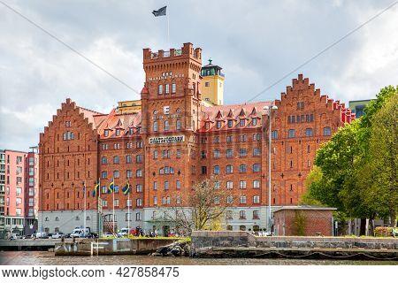 Stockholm, Sweden - May 20, 2015: Elite Hotel Marina Tower in Stockholm