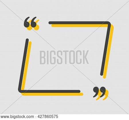 Quote Speech Bubble, Text In Brackets, Square Frame