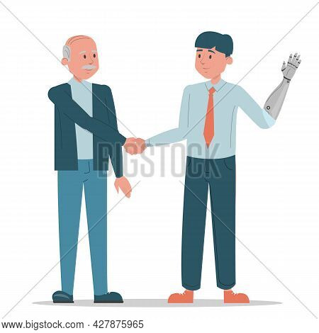 Handshake Between Two Business Persons Vector Isolated