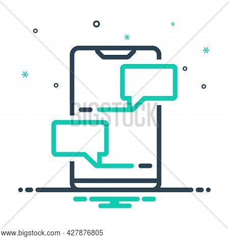Mix Icon For Chat Chatting Messaging Mobile Technology Bubble Discussion Conversation Dialogue Notif