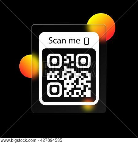 Scan Me Icon. Qr Code For Smartphone Icon. Qr Code For Payment. Scan Me With Smartphone Icon. Realis