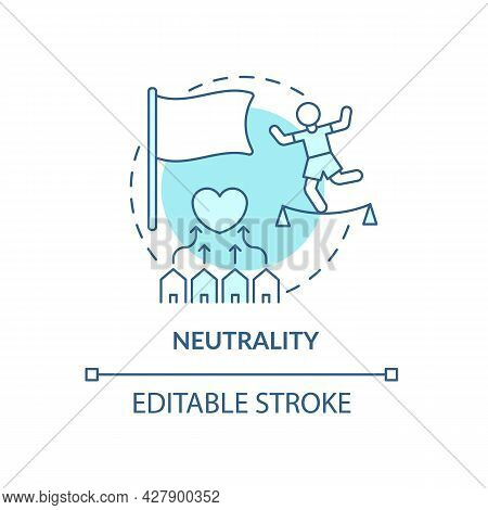 Neutrality And Untimilitary Tendencies Concept Icon. Humantarian Aid And Antiwar Position Abstract I