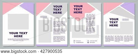 Corporate Presentation Brochure Template. Flyer, Booklet, Leaflet Print, Cover Design With Copy Spac
