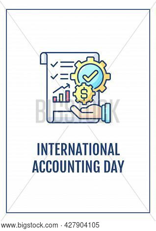 Accountants Importance Appreciation Greeting Card With Color Icon Element. Manage Finances. Postcard
