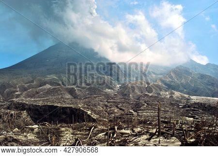 Indonesia's Merapi Volcano Spews Ash, Debris In Eruption