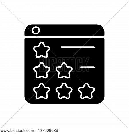 Consumer Review Networks Black Glyph Icon. Customer Feedback For Businesses. Reviewing Products, Ser