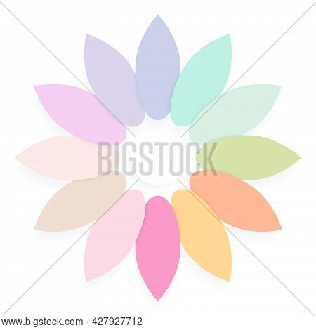 Vector Illustration Shaped Like Bunch Of Leaves Arranged In Circle Multi Colored Leaves Surrounding