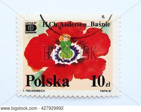 Postage Stamp Thumbelina Hans Christian Andersen Tales And Fables 10 Pln With Postmark E.freudenreic