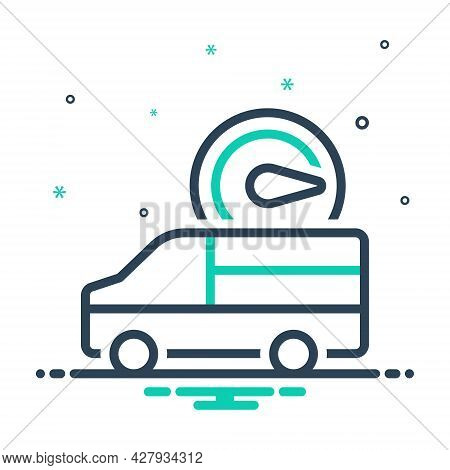 Mix Icon For Fast-delivery Fast Delivery Truck Quick Food Speed Order Parcel Vehicle Deliver Shippin