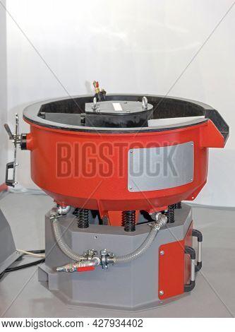 Vibratory Polishing Tumbler Machine Drum In Factory