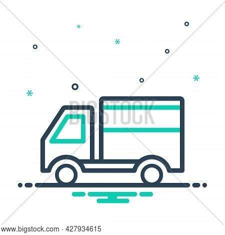 Mix Icon For Delivery-truck Delivery Truck Fast Service Transportation Parcel Shipment Van Shipping