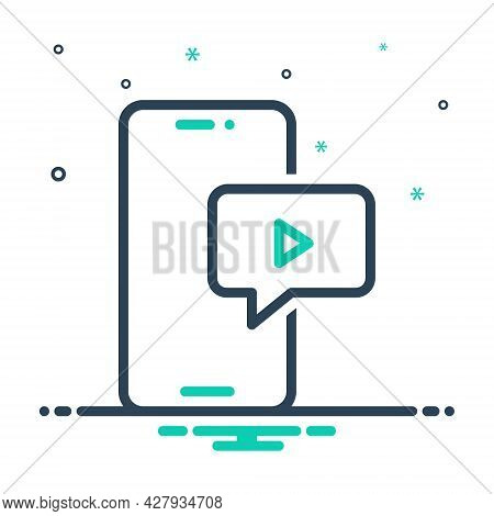 Mix Icon For Video-message Video Message Application Chat Communication Internet Social Multimedia M