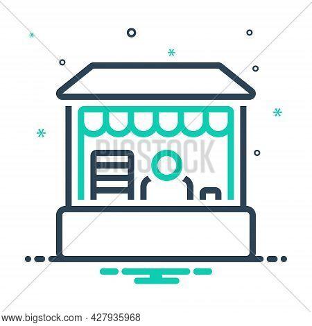 Mix Icon For Retail-place Retail Place Market Boutique Buy Commerce Grocery Supermarket Product Sale