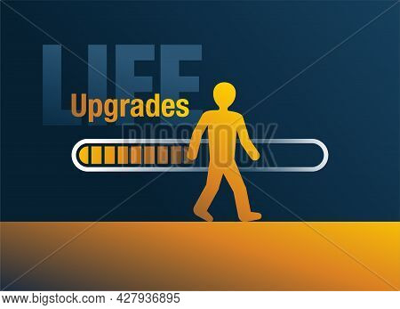 Life Upgrades - Small Changes And Optimizations Of Daily Routine. Vector Illustration