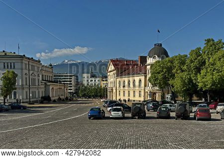 Sofia, Bulgaria -  May 06, 2012: View Of The Buildings Of The National Assembly, The Bulgarian Parli