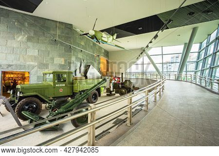 Minsk - August 28: Exposure Of Weapons And Equipment In The Belarusian Museum Of The Great Patriotic