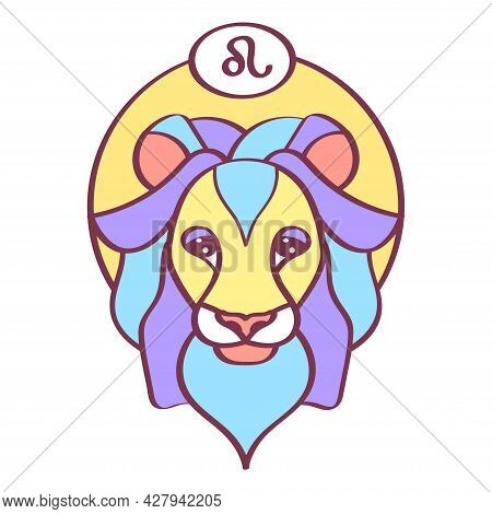 Isolated Leo Icon Colored Zodiac Sign Vector