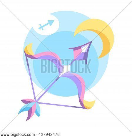 Isolated Sagittarius Icon Colored Zodiac Sign Vector
