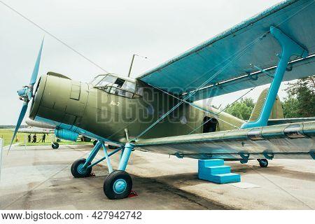 Minsk, Belarus - Jun 04, 2014: Famous Soviet Plane Paradropper Antonov An-2 Heritage Of Flying Legen