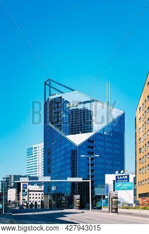 Tallinn, Estonia - July 26: Modern Architecture In Estonian Capital On July 26, 2014 In Tallinn, Est