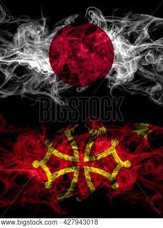 Smoke Flags Of Japan, Japanese And Occitania