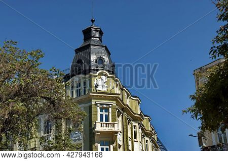 Sofia, Bulgaria - May 06, 2012: Fragments Of Old Beautiful Buildings  In The Center Of The Bulgarian