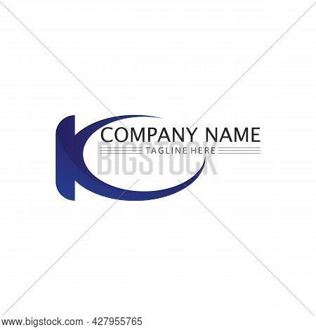 K Logo Design K Letter Font Concept Business Logo Vector And Design Initial Company
