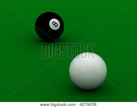 Black And White Pool Balls