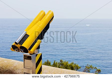 Binoculars In Mediterranean Sea