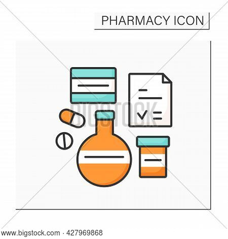 Brand Name Color Icon. Name For Manufacturer Or Organization To Medical Product Or Service. Tubes, P