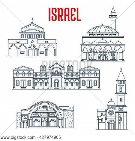 Israel Landmarks Architecture, Travel Sightseeing And Buildings Of Bethlehem. Israel Jesus Redeemer