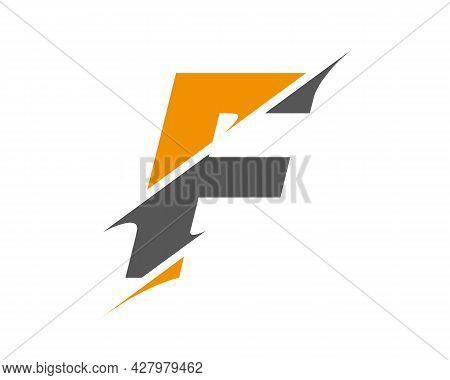 F Sliced Letter Logo. Modern F Letter Logo With Slash Concept. Initial Monogram Letter F Logo Design