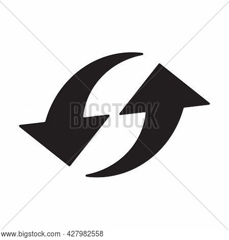 Replace Icon Vector Double Reverse Arrow Exchange Linear Sign For Graphic Design, Logo, Web Site, So